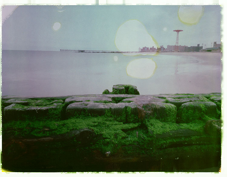 Coney Island Dreams Zero Image 4x5 pinhole camera ~ 75mm setting f/216 ~ 2 1/2 minute exposure on Fuji FP100C instant film